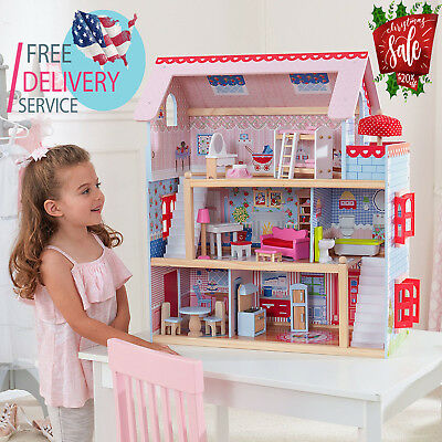 DollHouse Doll Cottage with Furniture For Kids Toys for Boys and Girls Gifts