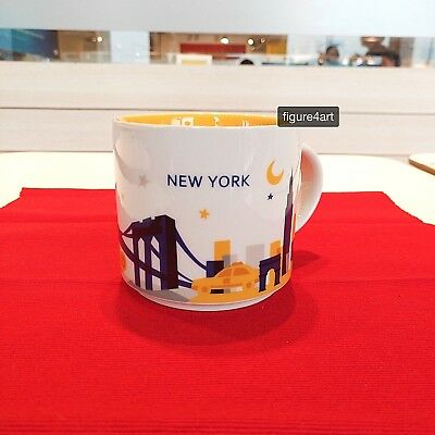 414ml New York Starbucks You Are Here Collection Coffee Mug Cup + *Free* Coaster