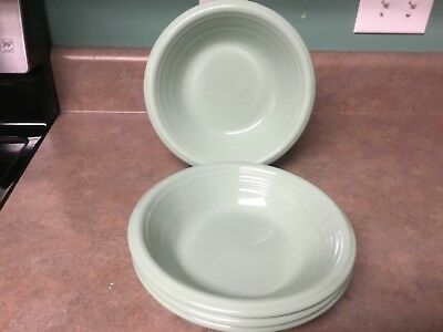 Gibson Set of 4 Main St. Jade Green Soup Cereal Bowls