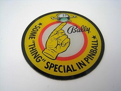 "Bally Some ""thing"" Special In Pinball Promotional Plastic Coaster Disc 3½"" Round"
