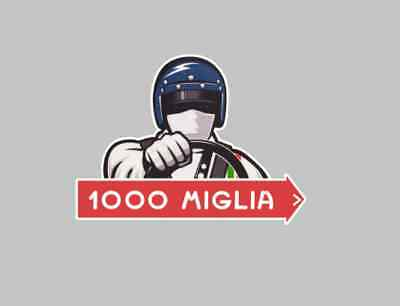 MILLE MIGLIA 1000 decal Sticker Badge tank Racing Driver Classic car race rally