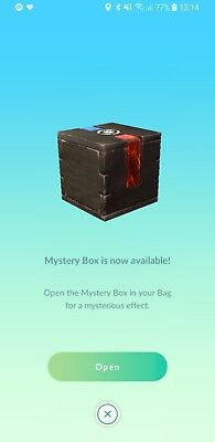 Pokemon Go Mystery Box - Meltan Lure catch Meltan. Safe and fast delivery BUFFED