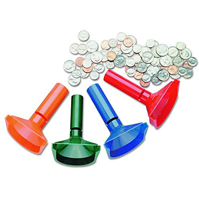 SteelMaster 224000400 Color-Coded Coin Counting Tubes f/Pennies Through Quarters