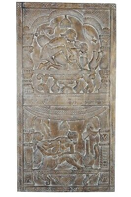 BOHO Inspired Vintage Kamasutra Carved Wall RELIEF Sculpture Barn Door HEADBOARD
