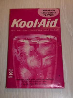 VINTAGE 1950's 1960's KOOL-AID FULL PACK Sealed Mip RASPBERRY FLAVOR store stock