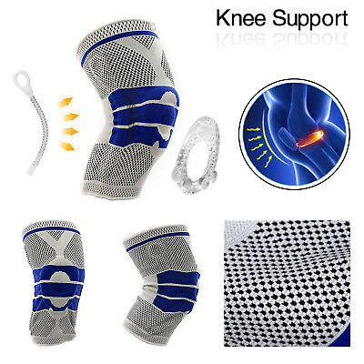 Knee Brace Compression Protection Silicone Spring Meniscus Support Pain Relief
