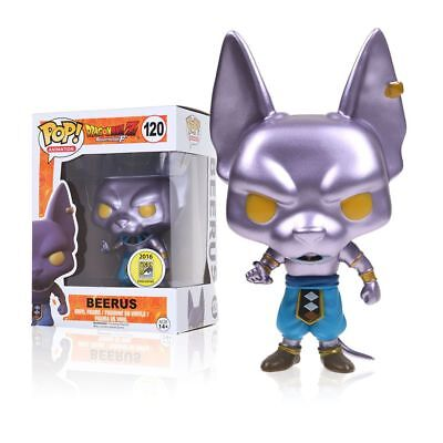 Funko Pop!Dragon Ball Z Super metallic Vinyl Figure BEERUS #120 Exclusive Box