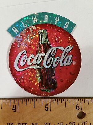 COCA-COLA--NEW--Vintage (1998) Licensed Prismatic Vending Machine Sticker (#6)