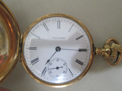 WALTHAM WATCH CO.  POCKET WATCH, 14K SOLID GOLD, 16s