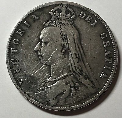 1889 Great Britain Silver 1/2 Crown