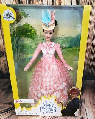 Disney Parks Mary Poppins Returns Grand Music Hall Barbie Doll In Hand