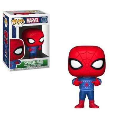 New~Funko Pop~Marvel Holiday Spiderman in Ugly Sweater Vinyl Figure #397-NIB