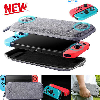 Slim EVA Hard /TPU Carrying Case Storage Bag For Nintendo Switch Console Gray