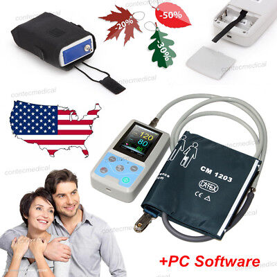US Seller, ABPM50 24hour Ambulatory Blood Pressure Monitor Machine, FDA Approved