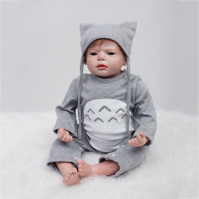 Lifelike 22inch Soft Silicone Reborn Doll Newborn Baby Toddler Infant Gift