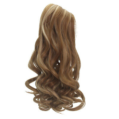 "Brown Wavy Curly Hair Wig for 18"" American Girl Doll DIY Making Supplies"