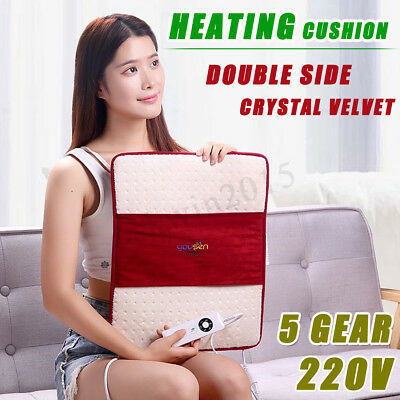 Therapeutic Electric Heated Pad Heat Mat Office Cushion Shoulder Pain Relief