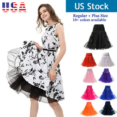 "26"" Vintage Petticoat 50s Retro Underskirt Swing Rockabilly Fancy Net Tutu Skirt"
