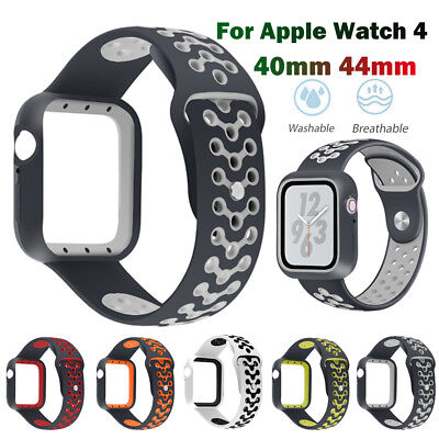 Fashion Sport Silicone Watch Band Wrist Strap Case Cover for Apple Watch Series4