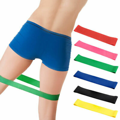 Resistance Stretch Loop Bands Exercise Elastic Band Fitness Equipment Yoga UK