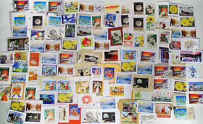 Finnish EURO stamps on paper 100+ pcs lot Finland kiloware clippings many 2010's