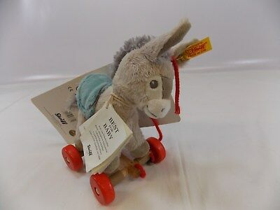 STEIFF ORIGINAL Best For Baby ISSY ESEL SOFT DONKEY TOY (Pullalong / Detachable)