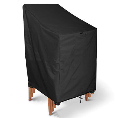 Waterproof Stacking Chair Dust Rain Cover Outdoor Garden Patio Furniture Cover T