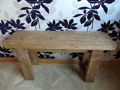 Handmade Wooden Bench- Many Colours.Indoors-Outdoors/Garden/Kitchen/Dining