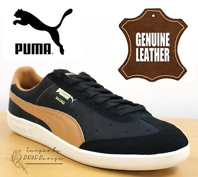 a429fccb8ed0ad PUMA Madrid Men s Casual Sneakers Black Suede Leather Trainers 363806 01