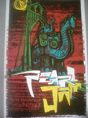 Pearl Jam Portland 2009 Tour Poster From Art Book 29x19cm To Frame