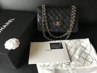efb740e6302405 MIB 100%AUTH CHANEL Classic Black Caviar Quilted Flap Jumbo Bag Gold  Hardwares