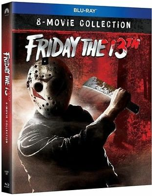 Blu Ray FRIDAY THE 13TH  1 2 3 4 5 6 7 & 8 movie collection. Region free. New.