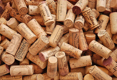 300 Used Wine Cork- Recycled / Used- Great Crafting Condition, Red / White Stain