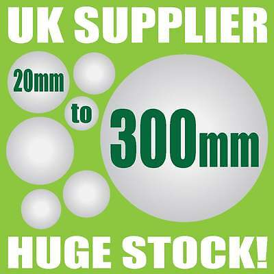 SOLID POLYSTYRENE BALLS Sweet Tree Floral Cake Craft - 20 to 300mm - UK SUPPLIED