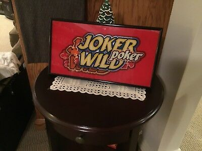 Slot machine art glass (JOKER WILD Poker)