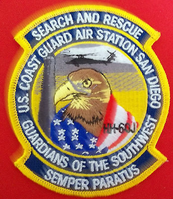 United States Coast Guard patch San diego CA Air Sta Guardians of the SW 4X3-1/4