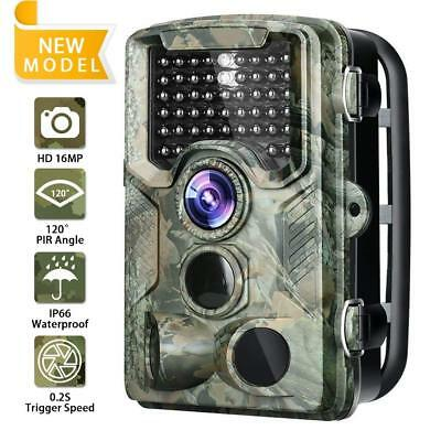 FUNSHION Trail Camera 120°Wide Angle Lens 47 Infrared LEDs 16MP 1080P Waterproof