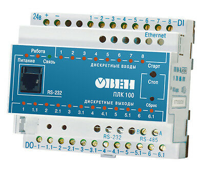 OWEN PLC100-24.K-M CONTROL UNIT 24 VDC  ARDU paired transistor switches OUT