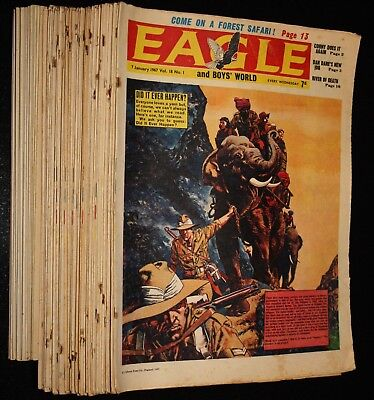 The EAGLE Comic * FULL YEAR 1967 * Volume 18, All 52 Issues, Dan Dare Boys World