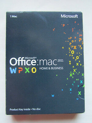 Microsoft Office for Mac 2011 Home and Business Word Excel Outlook W6F-00198