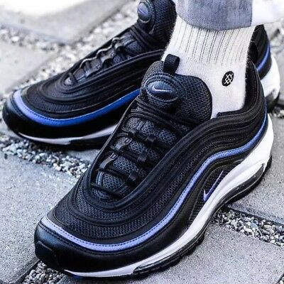 b053cbad50e70 Nike Air Max 97 OG Anthracite Black Racer Blue Uk Sizes 7-11 New 2018