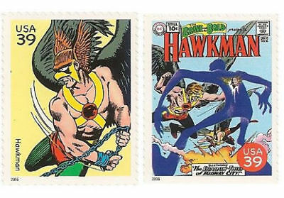 Hawkman The Winged Wonder The Brave And The Bold #36 US Superhero Stamps Mint NH
