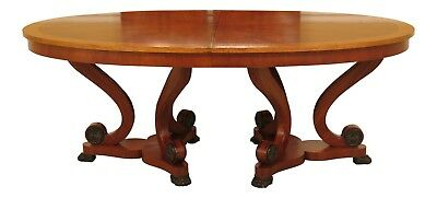 LF46250EC: HENREDON Regency Style Banded Top Dining Room Table