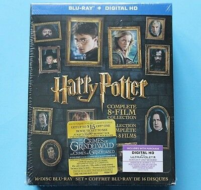 Harry Potter: Complete 8-Film Collection Blu-ray Disc, 2016 CANADIAN DIGI NEW