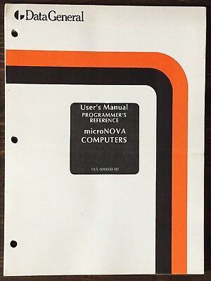 Data General microNOVA Computer Systems Programmer's Reference Manual 1976