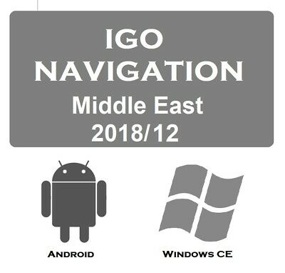 IG0 NAVIGATION SOFTWARE with Middle East Map 2018/12 for WINDOWS CE /  ANDROID
