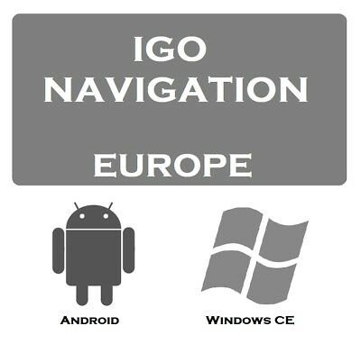 iGO Primo Navigation Software with Europe Map 2018/11 for WINDOWS CE and ANDROID