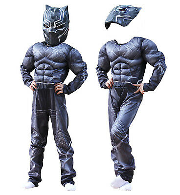 Simile Black Panther Costume Carnevale Bambino Uomo Cosplay Costume BLACKP01 CL