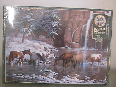 Cobble Hill 1000 Puzzle, Spirit of the Rockies, Horses, Poster Included, New