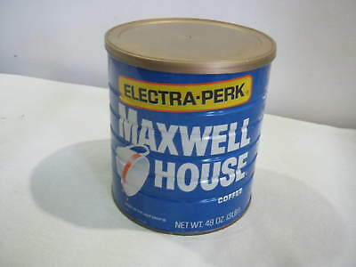 Vintage Coffee Can, Maxwell House Electra-Perk, 3 lb.